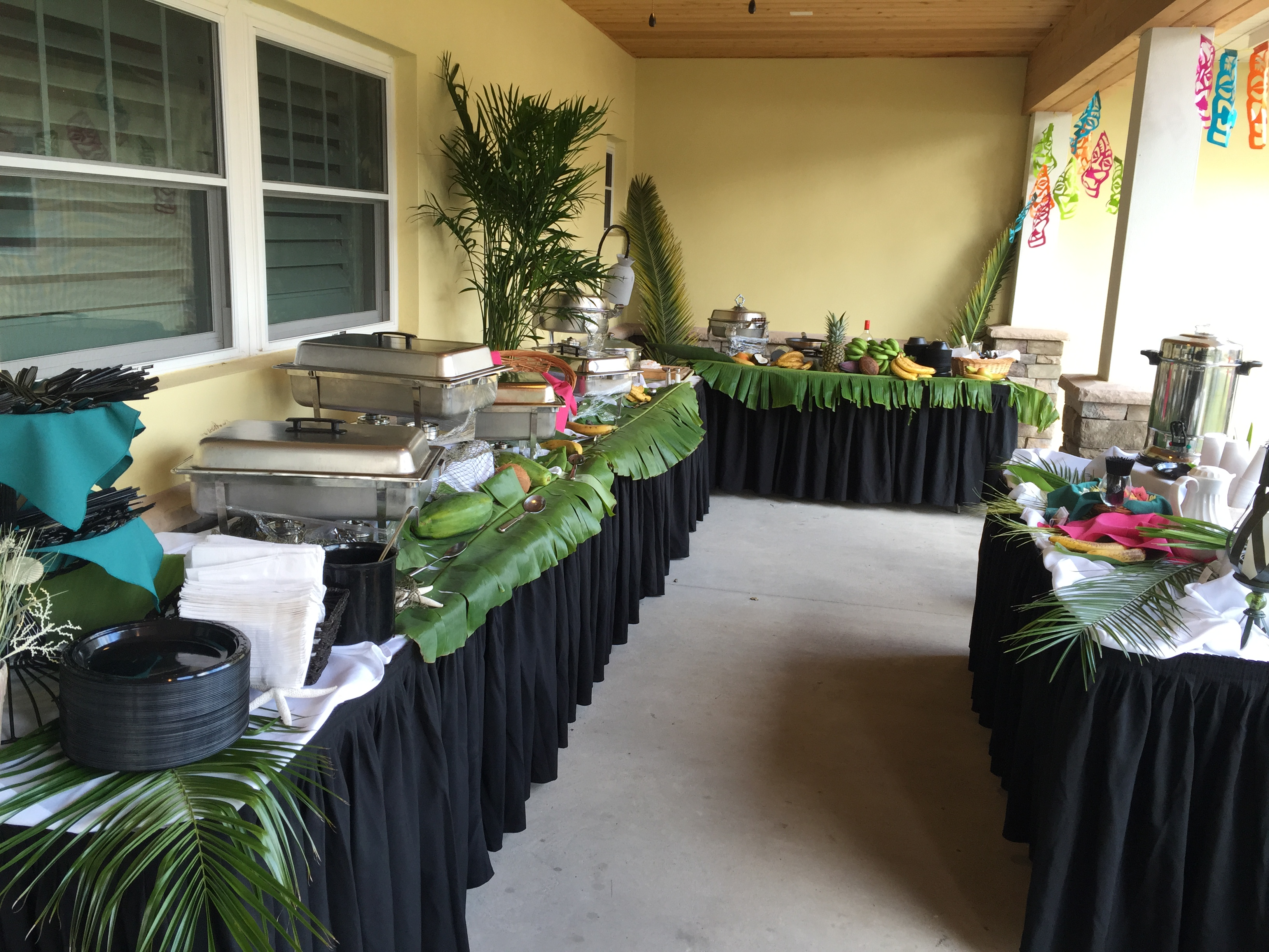 Buffet Style Food Layout