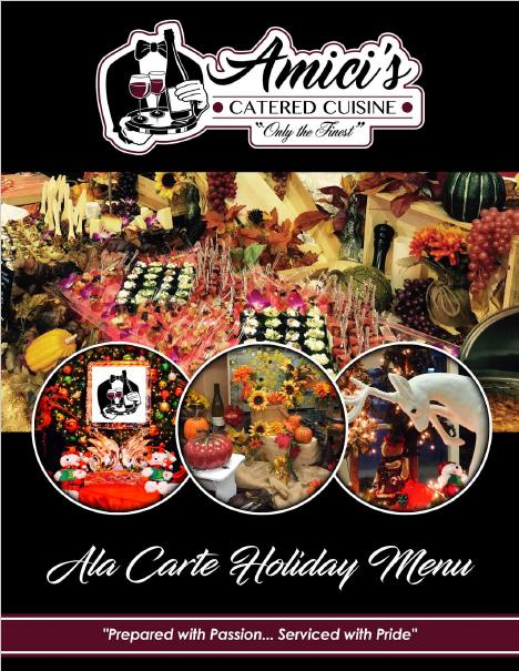 Ala Carte Holiday Catering Menu