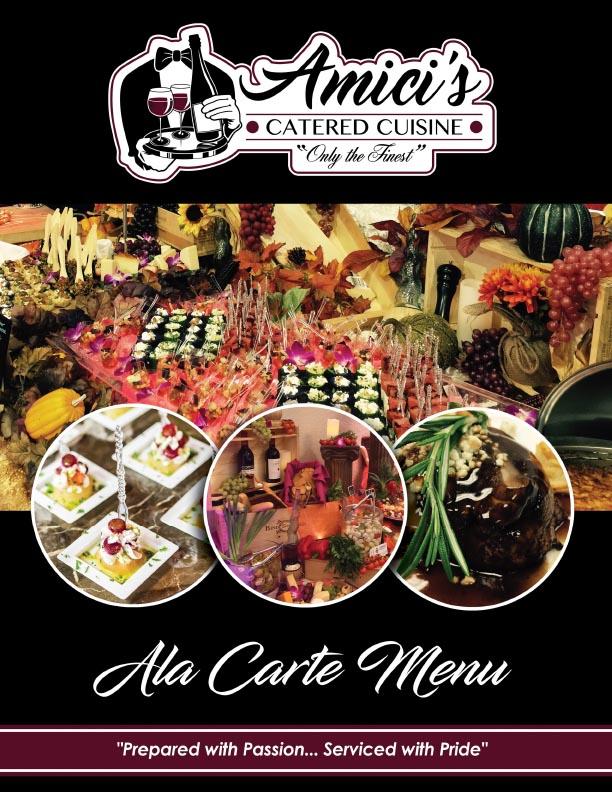 A La Carte Menu Cover
