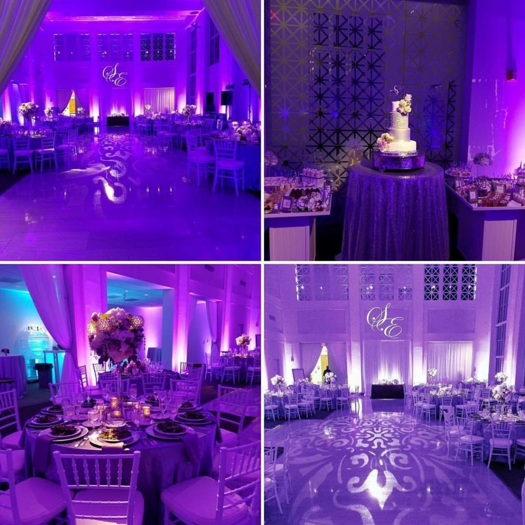 Four Photo View of a Wedding Venue