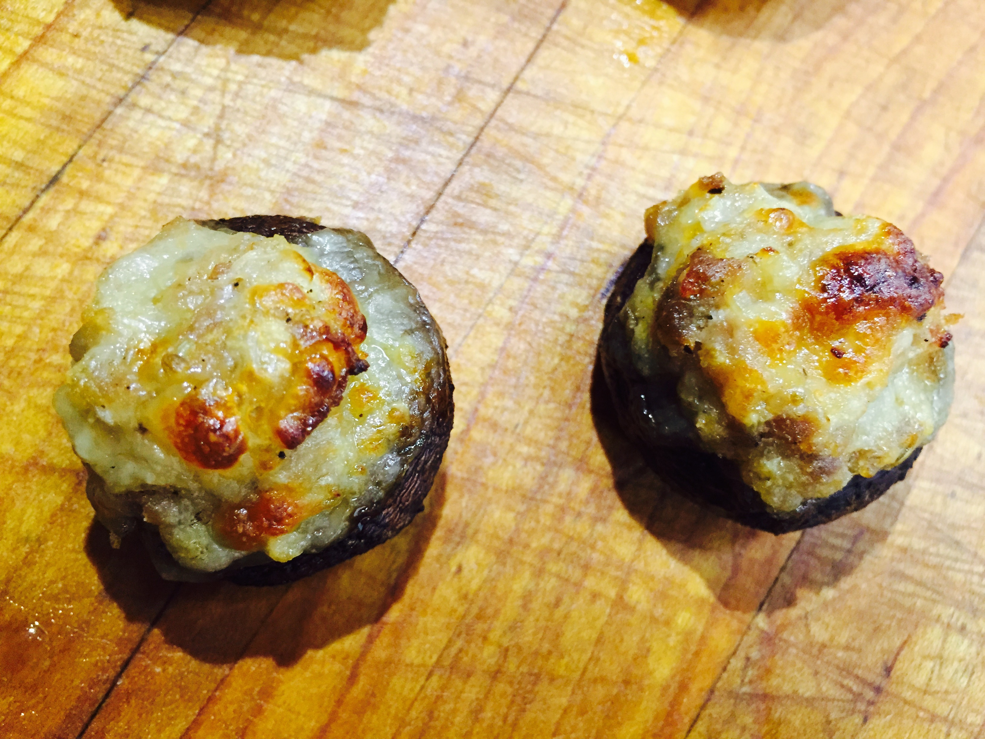 Italian Sausage and Mozzarella Stuffed Mushroom