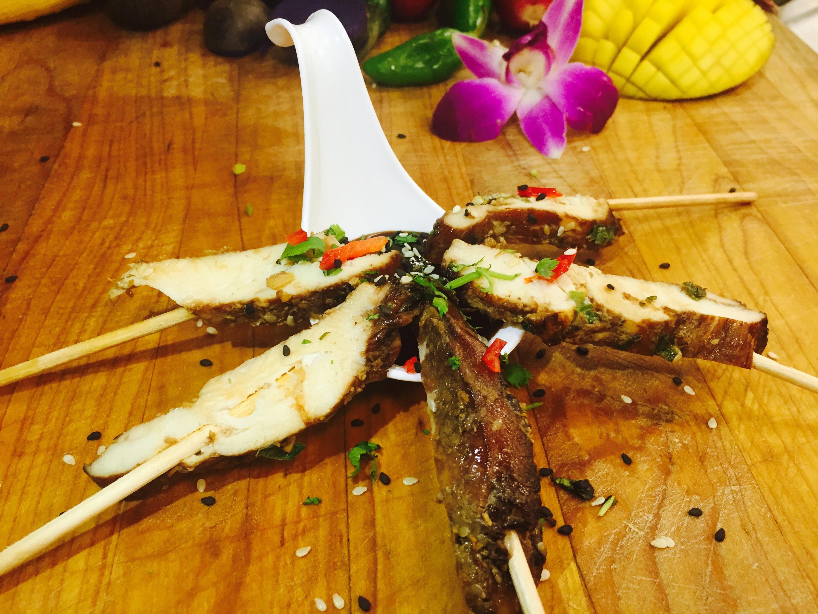 Thai Chicken Satay with Peanut Sauce