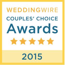 Wedding Wire - Couples Choice Award, 2015