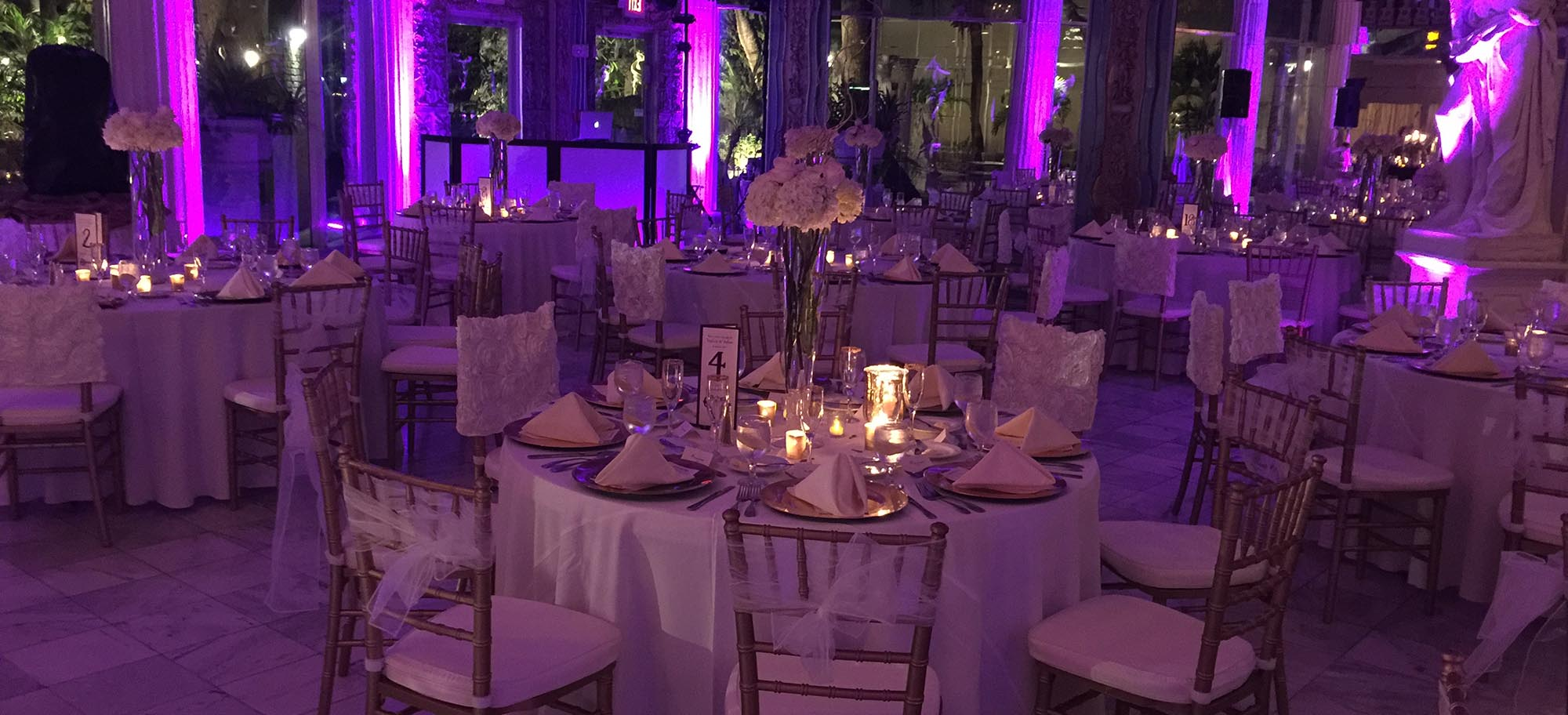 Wedding Venue with Dimmed Lights