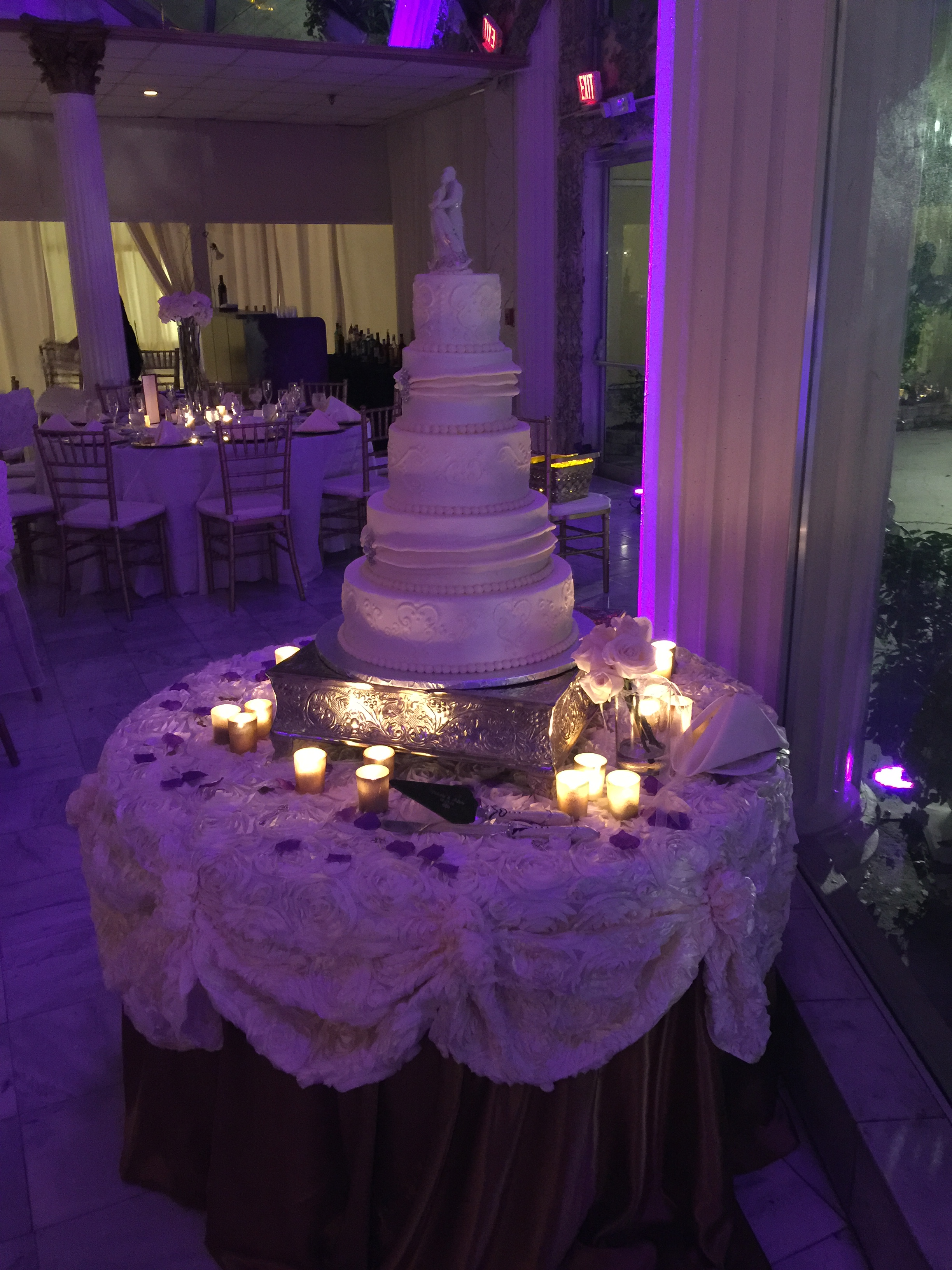 Wedding Cake with Dimmed Lights