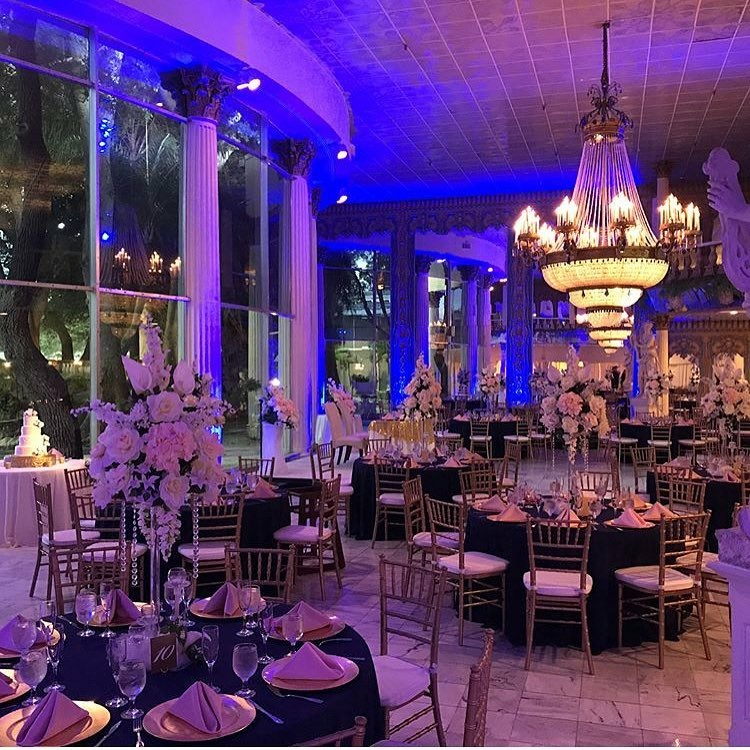 Wedding Venue Setup with Dimmed Lighting