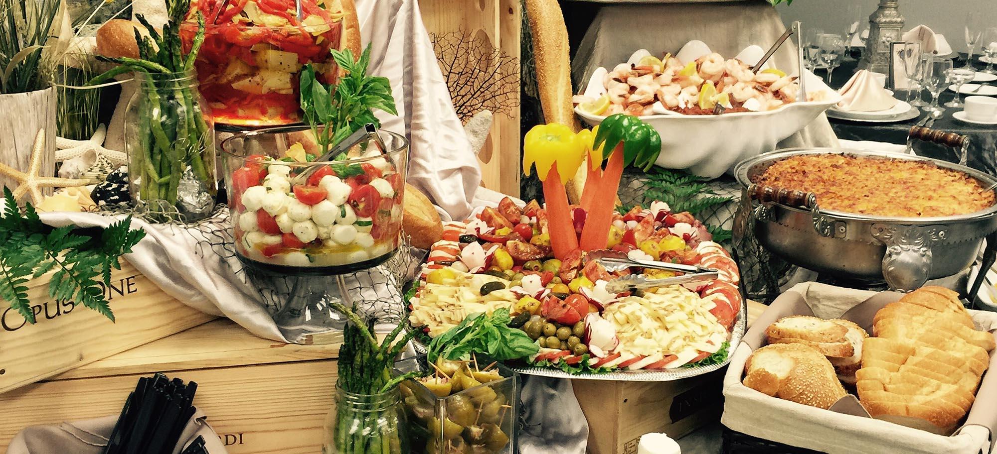 Amici's Italian Buffet Table